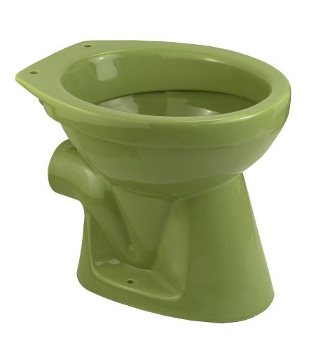 Cornat Farbklassiker Tiefspül-WC, universal, Nostalgiefarbe: Moosgrün