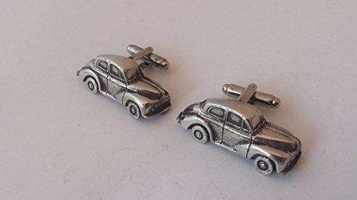 Morris Minor Saloon 3D Boutons de manchette fabriqué à partir de fin anglais en étain