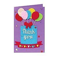 Ruikey 子供用手作りDIYグリーティングカード バレンタインデーカード メッセージカード 誕生日カード 結婚記念日の招待状 ありがとう手紙と封筒