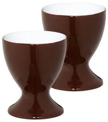 KAHLA Pronto 20C137A72605X - Set Porta Uovo, 2 Pezzi, Colore: Marrone Cioccolato