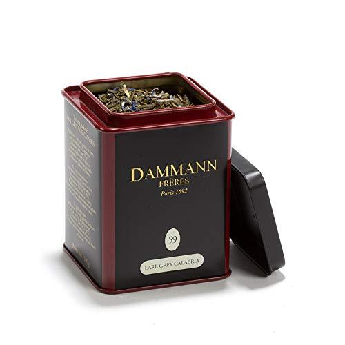 Pasticceria Passerini dal 1919 Dammann Earl Grey Vert Calabria - Thé Vert à l'huile Essentielle de bergamote, boîte 100g - Dammann Frères