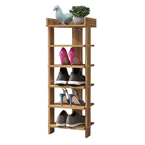 Zapatero Porch MDF Shoes Rack Slippers Organizador de almacenamiento Estantería for zapatos Estantes for el pasillo / Sala de estar / Dormitorio / Pasillo, Color de madera, 6 gradas, 30x24x96cm Artícu
