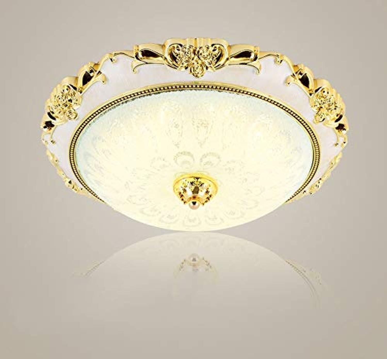 Europische led Deckenleuchte Schlafzimmer Wohnzimmer Lampe leuchtet (Farbe  Gold, Gre  12 W 30 cm - warmes Licht)