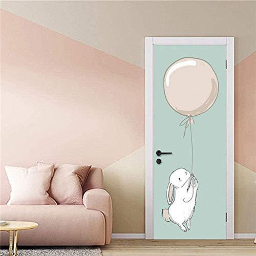 WTD - Papel pintado para puerta (77 x 200 cm), diseño de dibujos animados