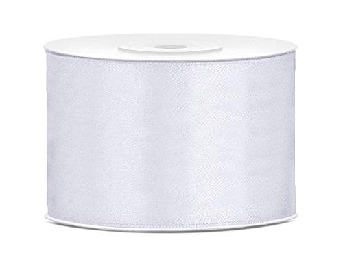 Nastro di raso, nastro decorativo, 50 mm di larghezza bianco