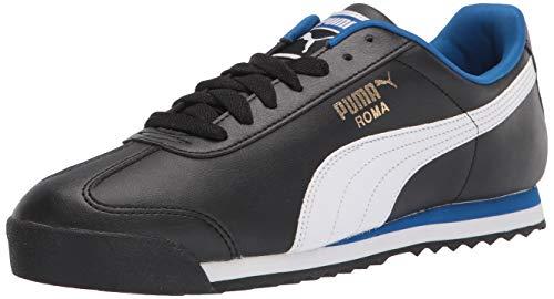 PUMA Roma Basic, Zapatillas Deportivas. Hombre, Black White Lapis Blue, 41 EU