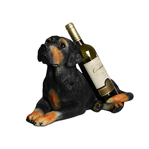 Botelleros Botellero vino Resina Vino Bastidores Vino perro soporte for botella de la estatuilla de la sala gabinete del vino Estatua animal Vino Caddy soporte for la cocina Bodega de la pieza central