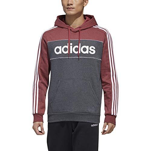 adidas Essentials Hooded Traje para Nieve, Hombre, Rojo/Gris Oscuro/Blanco, L