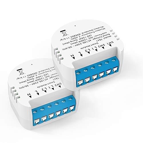 Smart Switch WiFi-Lichtschaltermodul, DIY Alexa Echo WiFi Smart Home LED Smart Life/Tuya-App und drahtlose Fernbedienung, kompatibel mit Alexa Echo, Google Home, IFTTT , Kein Hub erforderlich