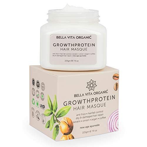 Bella Vita Organic Keratin Hair Mask Spa Cream For Frizzy, Dry, Coloured & Damaged Hair, 200g