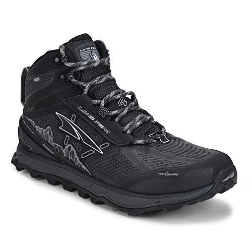 ALTRA Men's ALM1855N Lone Peak 4 Mid RSM Waterproof Trail Running Shoe, Black - 12.5 M US
