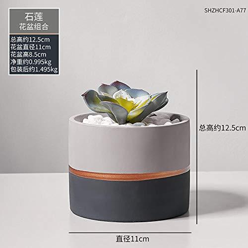 afbaby Kunstmatige bloemplant groene plant potten ornamenten vloer bloempot decoratie creatieve Scandinavische schildpad achterblad vlees IKEA bonsai