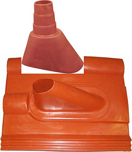 Dachabdeckung Frankfurter Pfanne Ziegelrot; inkl. Gummimanschette.die Alternative zum Bleiziegel [Dachpfanne Dachziegel]