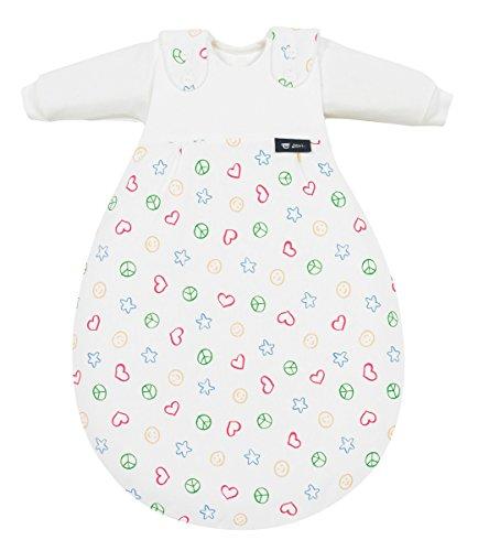 Alvi Schlafsack Baby-Mäxchen Single-Jersey weiß/bunt Größe 50 / 56