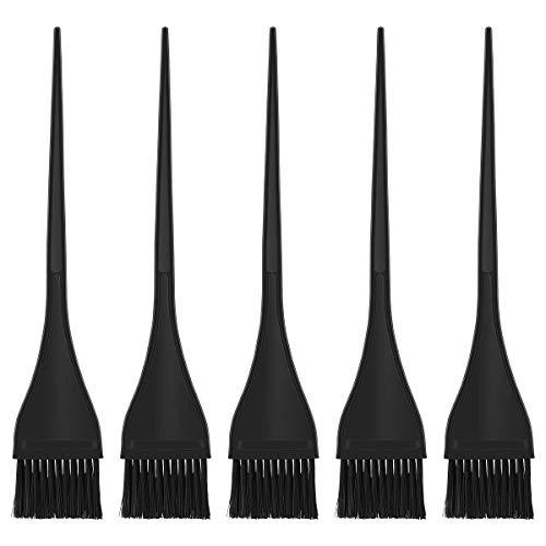 Brosse de maquillage Set Kit de coloration for cheveux, 5pcs (noir) Cosmétiques Set Brosses