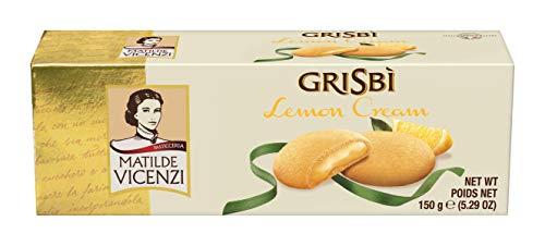 Matilde Vicenzi Grisbi Lemon - Italienisches Mürbeteiggebäck mit samtiger Cremefüllung, 14er Pack (14 x 150 g)
