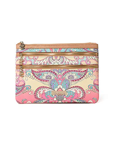 Desigual Damen Wallet Grand Valkiria Multizip Women Geldbörse, Orange (Coral), 1x15.5x22.5 cm