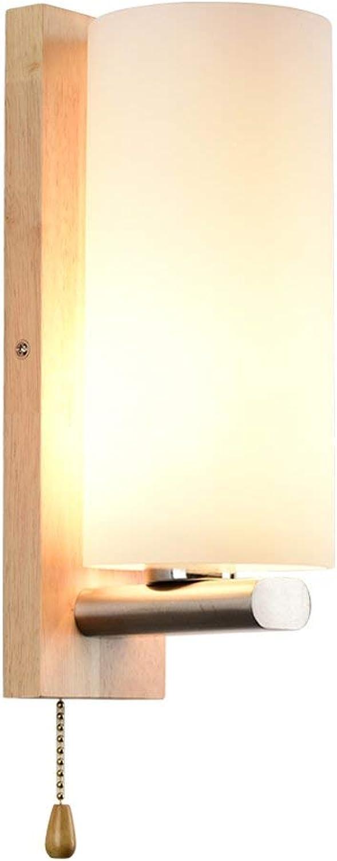 BAIF Nordic Wandleuchte Moderne minimalistische kreative Wohnzimmer Lampen Schlafzimmer Nachttischlampe Treppe Gang Holz Wandleuchte