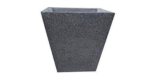ARTISTICA GRANILLO Jardinière en béton, vase, conique, dimensions H 52 cm, base supérieure 52 x 52 cm.