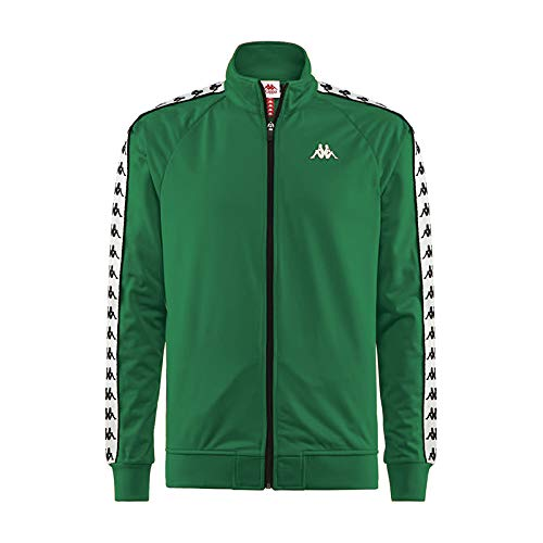 Kappa Banda Anniston Track Jacket | Green/White Large