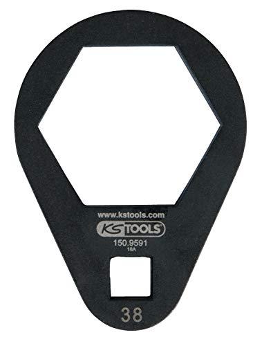 "KS Tools 150.9591 3/8"" Einsteck-Ringschlüssel, extra flach, 38 mm"