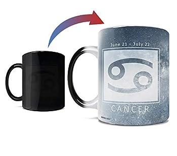Birthday Zodiac Sign - Cancer - Morphing Mugs Heat Sensitive Mug – Image revealed when HOT liquid is added - One 11oz Ceramic Mug