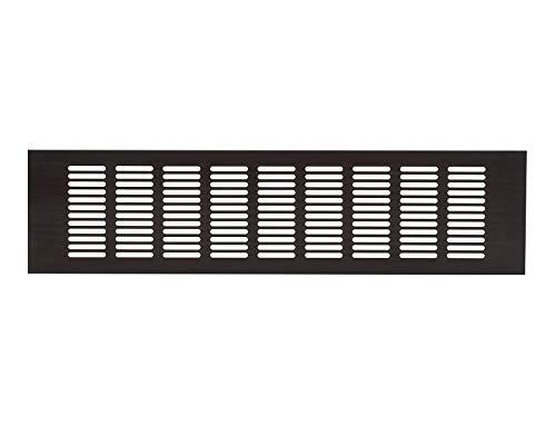 20 x 5 tum/500 x 120 mm brun/svart köksbänkskiva/sockel värmeventilation grill aluminium