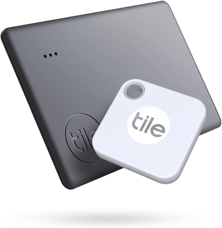Tarjeta y llavero localizador Tile (Blanco y Negro)