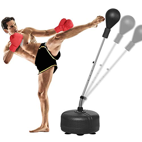 KINGSO Punching Bag with Stand for Adults Kids Reflex Speed Bag with...