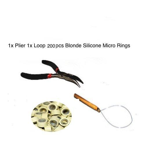 Kit plume Extension de cheveux Anneaux Beige. 200