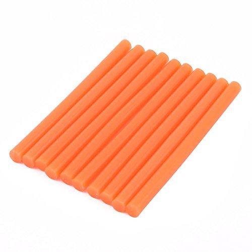 DealMux 10pcs 7x100mm Naranja pegamento caliente del derretimiento pegado rápido para la...