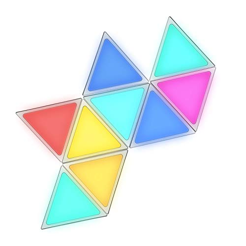 Blinkbrione Triangle Light Panels, Smart RGB LED Lights for Wall/Room/Party/Ceiling/Christmas Decoration Lighting Decor DIY Glow Homekit Multicolor Lamp iOS Android Bluetooth Gift - Music Light