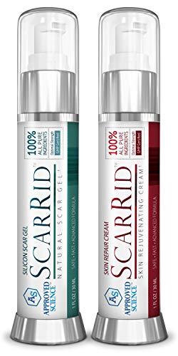 ScarRid (1 Gel + 1 Cream) : Effective Scar Removal Treatment, Skin Repair & Skin Rejuvenator - #1 Scar Treatment to Fade Scars, Permanently.