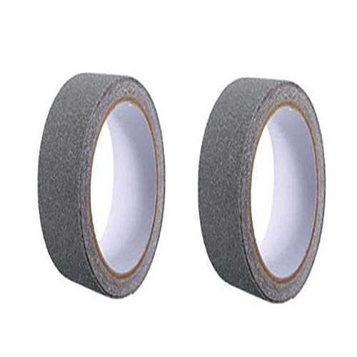 2 Rolls Non-Slip Stairs Tape Anti Slip Safety Tapes High Traction Grip Treads Tape for Stairs, Steps, Boats, Garage, Ladders, Floors, Indoor/Outdoor, Waterproof, Wearproof, 2.5 CM/10 M, Grey