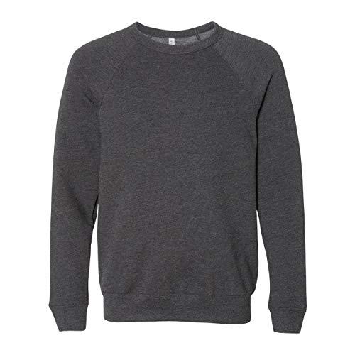 Bella + Canvas Unisex Adult Fleece Raglan Sweatshirt (M) (Dark Grey Heather)