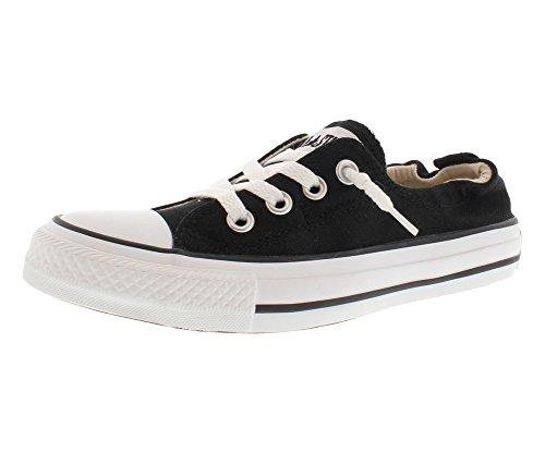 Converse Women Shoreline Slip on Sneaker Black/White, 7.5