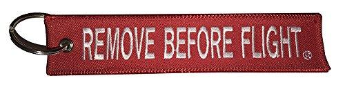 Remove Before Flight Llavero | Etiqueta de Equipaje | Rojo/Blanco | Aviamart®