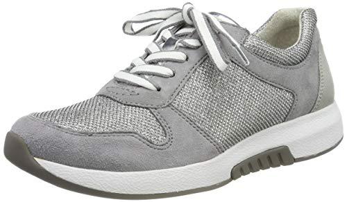 Gabor Shoes Damen Rollingsoft Sneaker, Grau (Altsilber/Donkey K 15), 37 EU