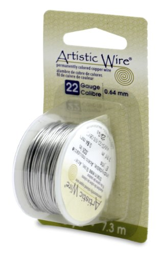 Artistic Wire Beadalon, 22 Gauge, Stainless, 8 yd (7.3 m) Craft Wire, Shiny Steel