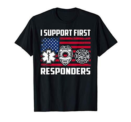 Regalo para el bombero de rescate First Responders FIREFIGHT Camiseta