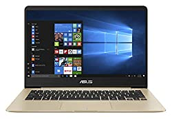 ASUS ZenBook UX430UA-GV573T Intel Core i5 8th Gen 14-inch FHD Thin and Light Laptop (8GB RAM/256GB SSD/Windows 10/Integrated Graphics/1.30 kg), Gold,Asus,UX430UA-GV573T