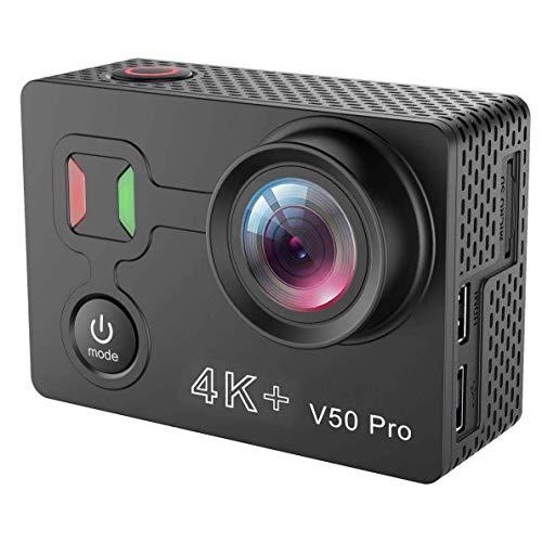 Pkfinrd cámara de acción 4K, cámara digital de los deportes de Wifi de la inmersión de 170 ° gran angular de los 30M con control remoto 2.4G