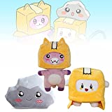 7.8/10.6/11in Lankybox Plush Toy Stuffed Animals, 3 Pcs Lankybox Plush Foxy and Boxy and Rocky for Kids Fans Collection Gift