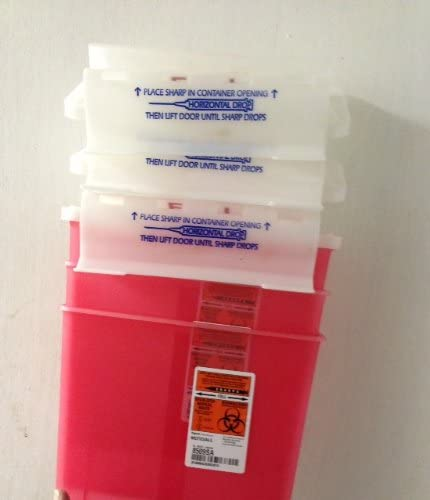 Free shipping anywhere in the nation PACK OF 3 EACH Sale SHARPS 5QT 8509SA PT#9509 RED COLLECTOR