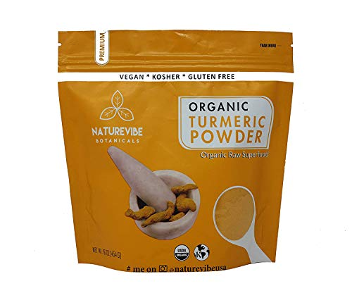 Premium Quality Organic Turmeric Root Powder with Curcumin (1lb), Gluten-Free, Non-GMO & Keto Friendly (16 ounces) | Immunity Booster | Indian Seasoning. [Packaging May Vary]