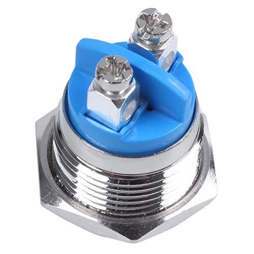 HEYB 16mm alto redondo Interruptor de boton pulsador de metal momentaneo redondo alto
