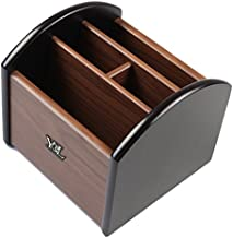 YCL YUCHUNLIN Rotating Remote Control Holder, Pen Holder for Desk,Wooden Remote Storage Organizer,TV Remote Control Caddy@YCL872R Pen Container