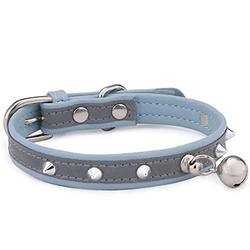 Onsinic Los Collares De Perro De Aguja del Remache Perro Collar De Cuero con Tachuelas Ajustable para La Mediana Grande Perros Mascotas Collares para Gatos