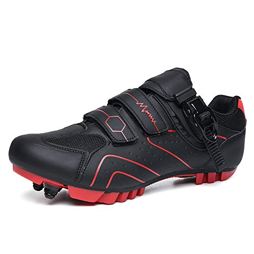 YMMONLIA Zapatillas de Bicicleta de Montaña,,Calzado de Bicicleta, Zapatos de Bicicleta Antideslizantes...