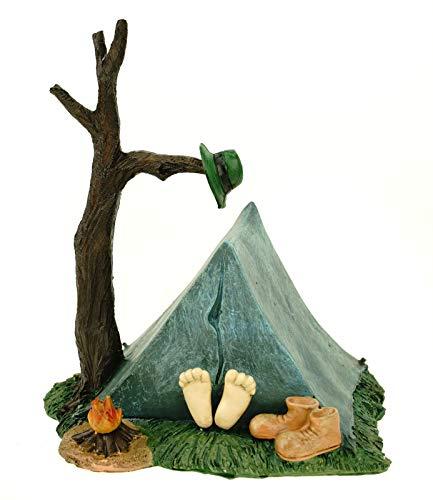 Udo Schmidt GmbH & Co. KG Spardose Camping Zelt 16 cm Polyresin Sparschwein wandern Urlaub Berg